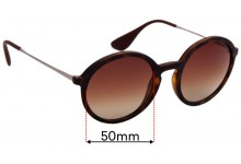 Sunglass Fix Replacement Lenses for Ray Ban RB4222 - 50mm wide