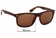 Sunglass Fix Replacement Lenses for Ray Ban RB4226 - 56mm wide