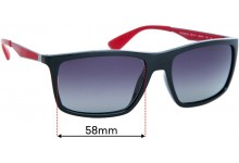 Ray Ban RB4228 Replacement Sunglass Lenses - 58mm Wide