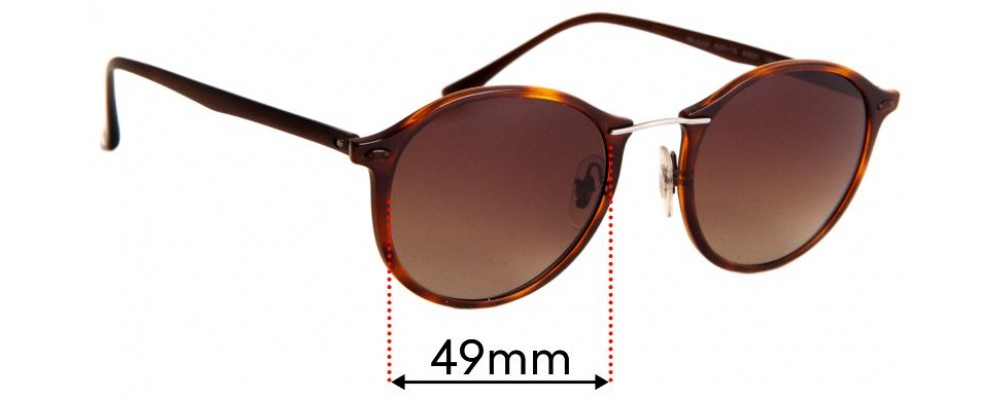 Sunglass Fix Replacement Lenses for Ray Ban RB4242 - 49mm wide