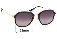Ray Ban RB4273 Replacement Sunglass Lenses - 52mm wide