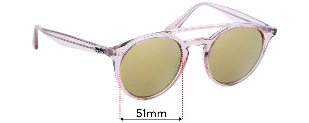 Sunglass Fix Replacement Lenses for Ray Ban RB4279 - 51mm wide
