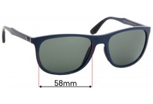 Sunglass Fix Replacement Lenses for Ray Ban RB4291 - 58mm wide