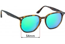 Sunglass Fix Replacement Lenses for Ray Ban RB4306-F - 54mm wide