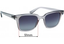 Sunglass Fix Replacement Lenses for Ray Ban RB4323 - 51mm Wide