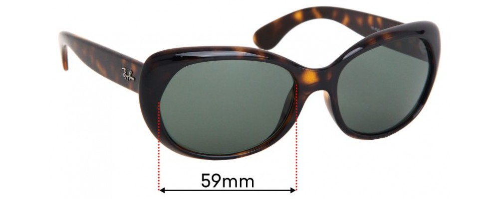 Ray Ban RB4325 Replacement Sunglass Lenses - 59mm Wide