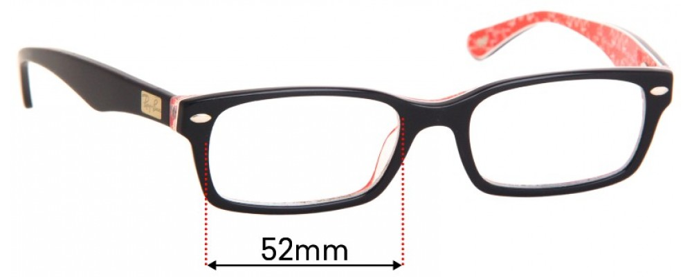 Ray Ban RB5206 Replacement Sunglass Lenses - 52mm Wide