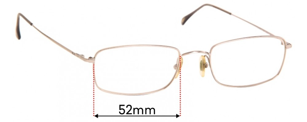 Ray Ban RB6021 Replacement Sunglass Lenses - 52mm Wide