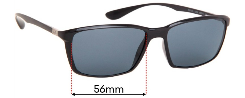 Ray Ban Liteforce RB7018 Replacement Sunglass Lenses - 56mm Wide