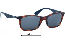 Ray Ban RB7047 Replacement Sunglass Lenses - 54mm wide