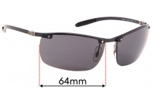 Ray Ban Tech RB8306 Replacement Sunglass Lenses - 64mm Wide - Professional Install Recommended