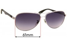 Ray Ban RB8313 Replacement Sunglass Lenses - 61mm wide