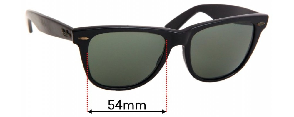 Ray Ban Folding Wayfarer II Replacement Sunglass Lenses - 54mm wide