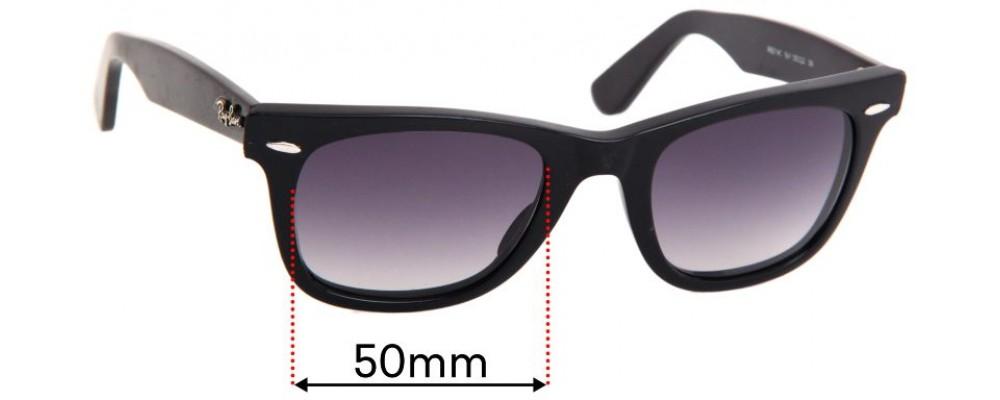 Ray Ban RB2140 Original Wayfarer Replacement Sunglass Lenses 50mm wide lenses
