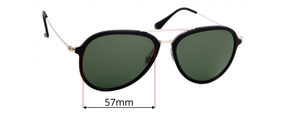 Ray Ban RB4298 Replacement Lenses 57mm
