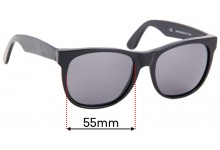 Retro Super Future Classic Wayfarers Replacement Sunglass Lenses - 55mm Wide
