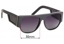 Retro Super Future Sideviews Replacement Sunglass Lenses - 55mm Wide