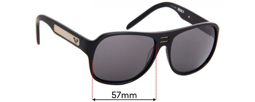 Sunglass Fix Replacement Lenses for Roxy Chillin - 57mm wide