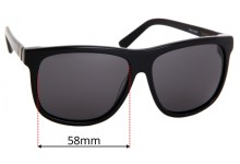 Sabre Pool Side Replacement Sunglass Lenses - 58mm Wide