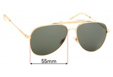 Sunglass Fix Replacement Lenses for Saint Laurent SL 85 - 55mm Wide