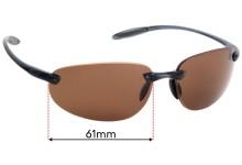 Sunglass Fix Replacement Lenses for Serengeti Celcio - 61mm Wide
