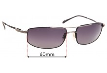 Sunglass Fix Replacement Lenses for Serengeti Lamone - 60mm Wide