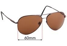 Sunglass Fix Replacement Lenses for Serengeti Medium Aviator - 60mm wide