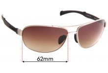Sunglass Fix Replacement Lenses for Serengeti Norcia - 62mm Wide