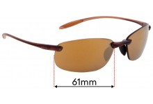 Sunglass Fix Replacement Lenses for Serengeti Nuvola - 61mm wide