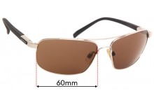 Sunglass Fix Replacement Lenses for Serengeti Palladio - 60mm wide