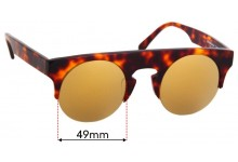 Sunglass Fix Replacement Lenses for Shanghai Tang 1AF28A5 - 49mm Wide