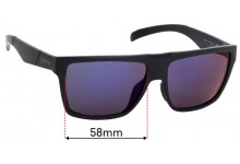 Smith Edgewood Replacement Sunglass Lenses - 58mm Wide