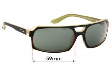 Sunglass Fix Replacement Lenses for Smith Hemi - 59mm wide