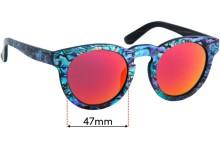 Soul California Pfeiffer Beach Replacement Sunglass Lenses - 47mm wide