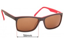 Sunglass Fix Replacement Lenses for Specsavers La Palma Sun Rx - 56mm Wide