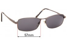 Sunglass Fix Replacement Lenses for Specsavers Sun Rx 114 - 57mm Wide