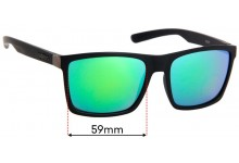 Spotters Riot Replacement Sunglass Lenses - 59mm Wide