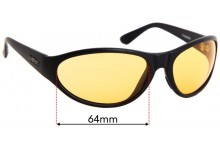 Spotters Thunder Replacement Sunglass Lenses - 64mm Wide