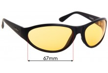 Spotters Thunder Replacement Sunglass Lenses - 67mm Wide