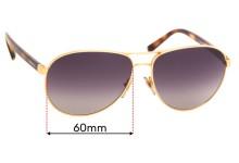 Sunglass Hut HU 1005 Replacement Sunglass Lenses - 60mm wide
