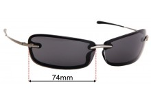 Sunglass Fix Replacement Lenses for Thierry Mugler 6536 - 74mm wide