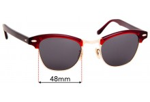 Timeworn Clothing Co. Blowline Replacement Sunglass Lenses - 48mm Wide