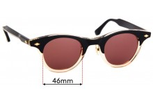 Timeworn Clothing Co. Boston Replacement Sunglass Lenses - 46mm Wide