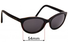 Sunglass Fix Replacement Lenses for Tommy Hilfiger / Specsavers TH Sun RX 06 - 54mm wide