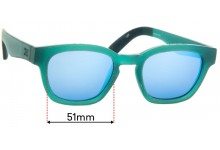 Toms Bowery Replacement Sunglass Lenses - 51mm Wide