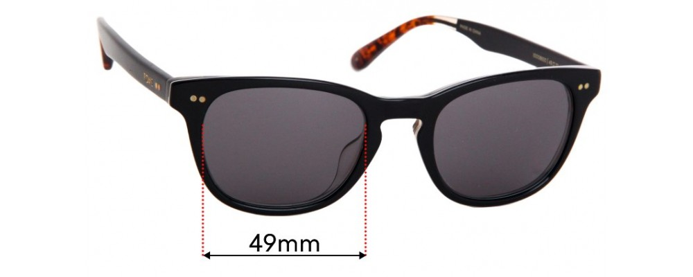 Toms Isa Replacement Sunglass Lenses - 49mm Wide