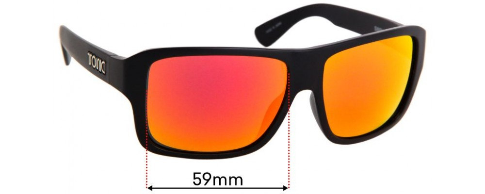 Sunglass Fix Replacement Lenses for Tonic Swish - 59mm Wide