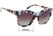 Sunglass Fix Replacement Lenses for Trenery Riviera - 51mm wide