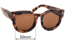 Sunglass Fix Replacement Lenses for Valley A Dead Coffin Club - 50mm wide