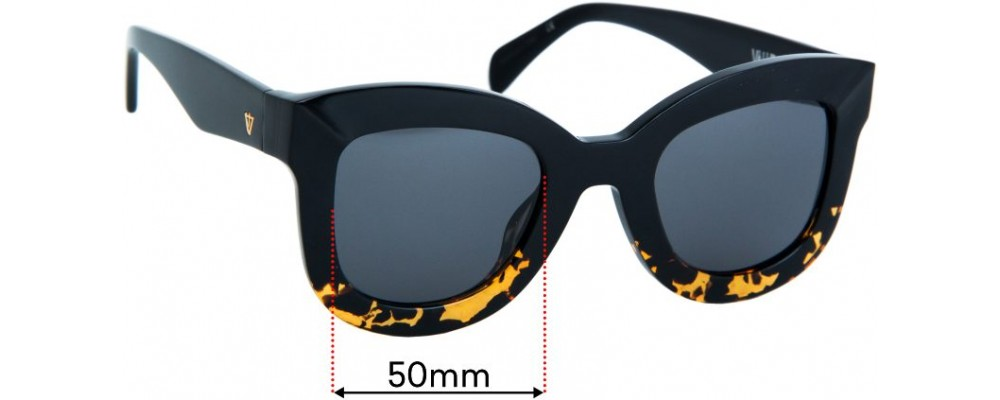 Sunglass Fix Replacement Lenses for Valley Belgrade - 50mm wide